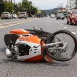 אופנוע בתאונה